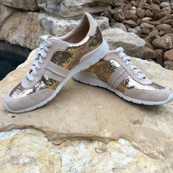29d33308ac1 UGG-Jaida Glitter Gold Women's Lace-up Sneaker 8.5